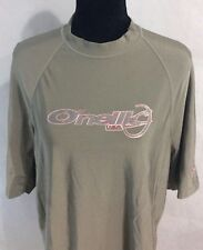 Oneill Mens Size L Nylon S/S Shirt Army Green
