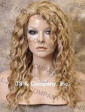 HUMAN HAIR Blend Long Wavy Strawberry Blonde Mix Wig Amazing WBPL 27-613