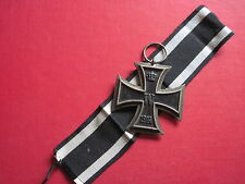 Original Eisernes Kreuz 2.Klasse 1914 mit Band Hersteller:S-W auf dem Ring
