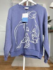 ZARA Disney Classics DUMBO Elephant Blue Sweatshirt Size S Small Bloggers BNWT x