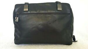AURIELLE Ladies Designer Medium Black Leather Shoulder Bag EUC
