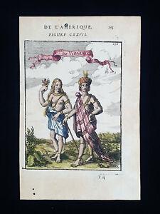 1683 A.M. MALLET: Inhabitants of Virginia, United States, North America, USA...