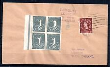 GB QEII Wilding cover with Bundespost block - unusual WS7246