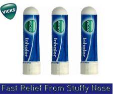 Vicks Inhaler for Nasal Congestion Cold Blocked Nose Fast Relief x 3 INHALER
