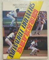 1983 MILWAUKEE BREWERS PROGRAM SCORECARD vs TIGERS AL CHAMPIONS