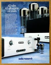 AUDIO RESEARCH Pre Amplifier LS7 & Tube Amp VT60 VINTAGE Audio Brochure Catalog