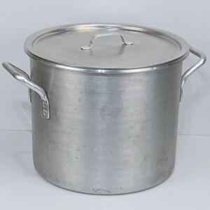 Lincoln Wear-Ever Aluminum 20 qt Stock Pot Pan #4305 w/ Lid #4192 Commercial Vtg