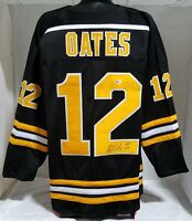 "ADAM OATES AUTOGRAPHED/SIGNED CUSTOM JERSEY WITH ""HOF 2012"" BECKETT COA   (XL)"