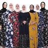 Ramadan Print Abaya Muslim Women Long Maxi Dress Islam Jilbab Dubai Kaftan Robe