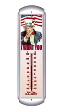 The U.S. Army-Uncle Sam,I Want You,Metal Thermometer`Factory Sealed`Free To US
