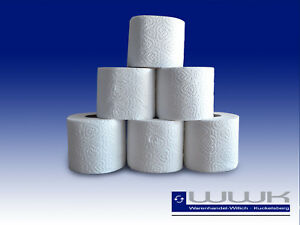 80 Rollen 4 lagig Toilettenpapier 150 Blatt  Klopapier WC weiß Zellstoff 100%