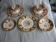 9 pièces tasses, sous-tasses, assiettes dessert Royal Albert Lady Hamilton