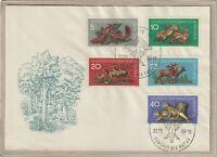 """Ersttagsbrief - """"Schützt die Natur"""" Luchs/Reh/Hirsch/Hase/Eichhörnchen 1959"""