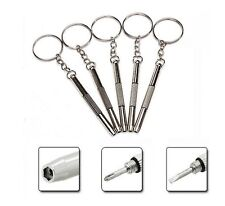 Set Of Five 3 In1 Screwdriver Keyring Glasses Sunglasses Mobile Phone Watch Tool