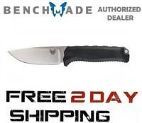 Benchmade Steep Country 15008-BLK Knife Drop-Point Plain Edge Black Fixed Blade