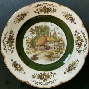 #1 English Ironstone Decorator Ascot Service  PlateBy Wood & Son Alpine White