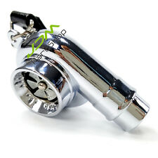 Spinning Fan Noise Real Sound Turbo Charger Keyring Keychain Boost Drift silver