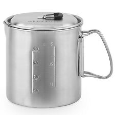 Solo Pot 900: Lightweight Stainless Steel Backpacking Pot for Solo Stove Lite