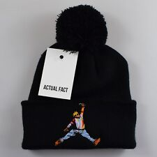 Actual Fact Biggie x Jordan Roll Up Black Bobble Beanie Hat