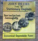 John Deere Type W Antique Hit Miss Stationary Engine Tractor Pump Power Brochure