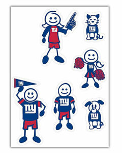 NFL New York Giants Small Family Decal Set