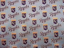 "KANSAS CITY ROYALS  MLB 100% COTTON 1/2 YARD PIECE BRAND NEW DESIGN ""GO ROYALS"""