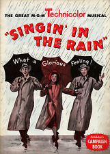 SINGIN' IN THE RAIN (1952) • Kelly, Reynolds, O'Connor • Complete, Unfolded • VF
