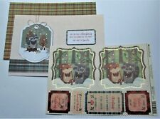Kanban Woodland Christmas Animals Die Cut Foiled Toppers,Card, Insert Kit 54426