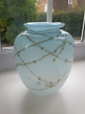 Vintage  art glass vase signed and dated 1988.