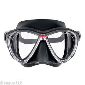 Hollis M-3 Scuba Diving Dive Free-Diving Mask Black 205-4700-07