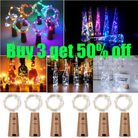 Bottle Copper Fairy String Lights 20 LED Battery Cork Shaped Xmas Wedding Party