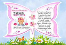 Daughter Butterfly Shaped Memorial Graveside Card & Holder