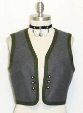 ROSE DIRNDL / GRAY ~ WOOL Women Austria Hunting Riding Dress Skirt Suit VEST XS