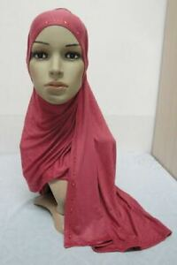 Long Hijab Wrap Head Scarf Cover Shawl Jersey Cotton Maxi Muslim Islamic Modest