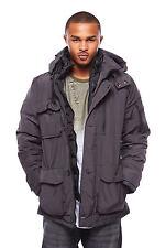 Mens Warm 3 Pocket Zipper Detail Button Drawstring Winter Jacket OMR327H