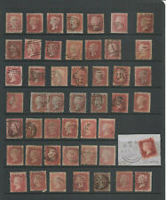 GB QV 1d RED STAR SELECTION USED