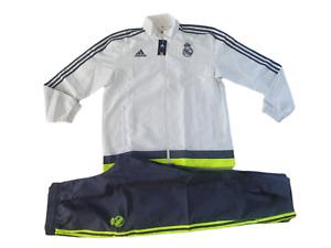 adidas Real Madrid Präsentationsanzug Kinder Größe 128 164 -NEU-Anzug Tracksuit