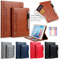 """For iPad 7th Generation 10.2"""" 2019 Smart Luxury Leather Wallet Stand Case Cover"""