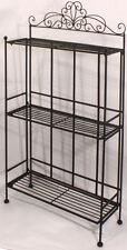 Shabby Chic Black Freestanding Shelf Storage Unit Display Rack Bathroom Kitchen