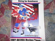 1987-88 USA HOCKEY TEAM PROGRAM YEARBOOK BRIAN LEETCH+15 other AUTOS 1988 NHL AD