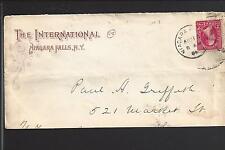 "NIAGARA FALLS, NEW YORK 1894 2CT BUREAU ADVT.""THE INTERNATIONAL""."