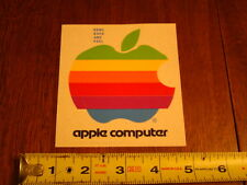 Authentic Apple Computer Logo Rainbow Sticker from Early 1980s