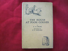A.A. MILNE - THE HOUSE AT POOH CORNER - FIRST EDITION IN FIRST ISSUE DUST JACKET