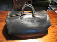 antique Dr.bag black leather small size Excellent condition doctor's bag NICEsee