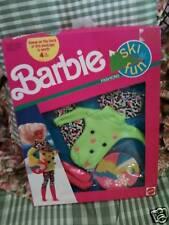 Barbie Doll Ski Fun Fashions 1991 #7596 NRFB Mattel Vintage