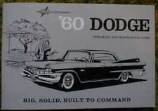 1960 Dodge Owners Manual 60