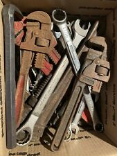 Vintage Lot Of 39 Wrenches And Other Tools! Craftsman! Husky! Ridgid! Trimo!