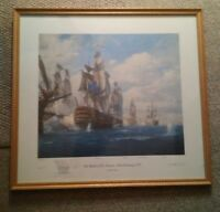 043 Geoff Hunt Limited Edition 632/700 The Battle of St. Vincent 14th Feb 1797