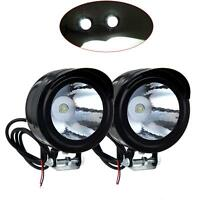 2PCS Universal Motorcycle Motorbike Black Headlight LED Front Light Headlamp UK