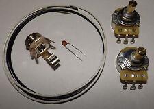 Precision P Bass Guitar Wiring Kit CTS 250K Solid Pots .047 Ceramic Disc Cap